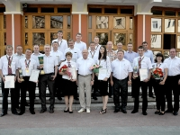 Награждение команды Западно-Сибирской ж.д.