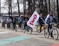 Старт велопробега, посвященного 45-летию начала строительства БАМа